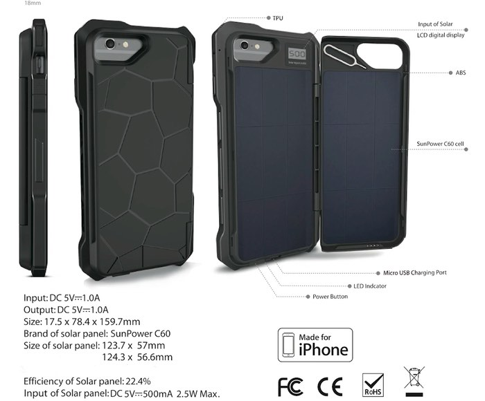Sunny iPhone Solar Power Case