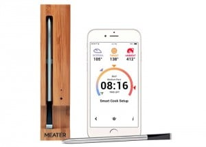 Wireless Smartphone Connected Meat Thermometer (video)