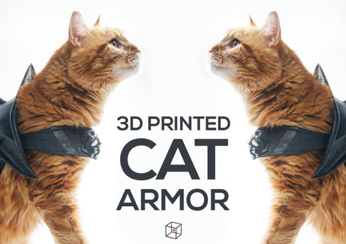 3D Printed Cat Armour