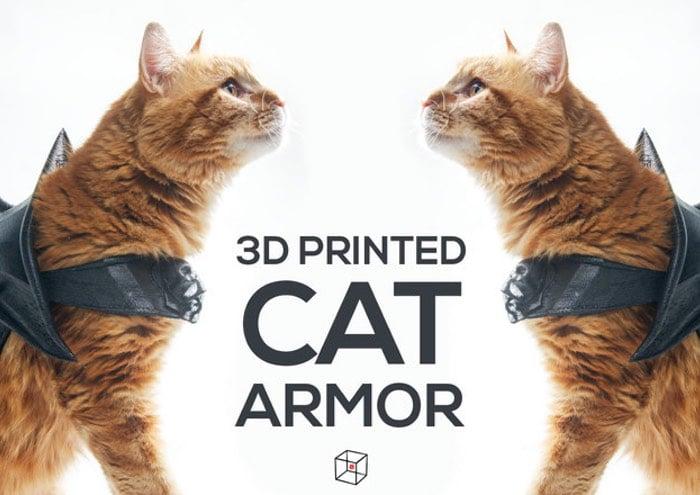 3D Printed Cat Armour