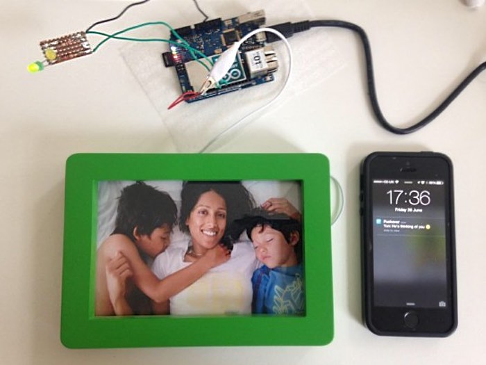 Arduino Interactive Connected Picture Frame