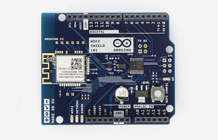 Arduino Wi-Fi Shield 101 Now Available For $49.90