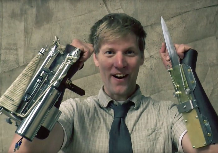 Real Life Assassin's Creed Rope Launcher Created By Inventor Colin Furze (video)