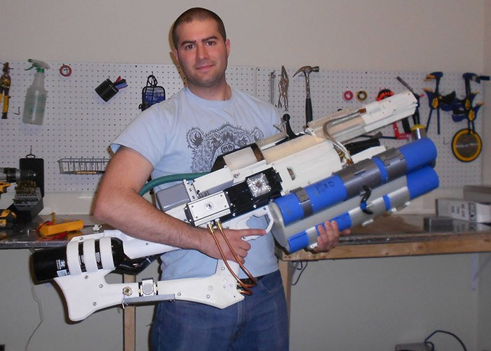 Handheld diy railgun created using arduino and 3d printer for When was 3d printing invented