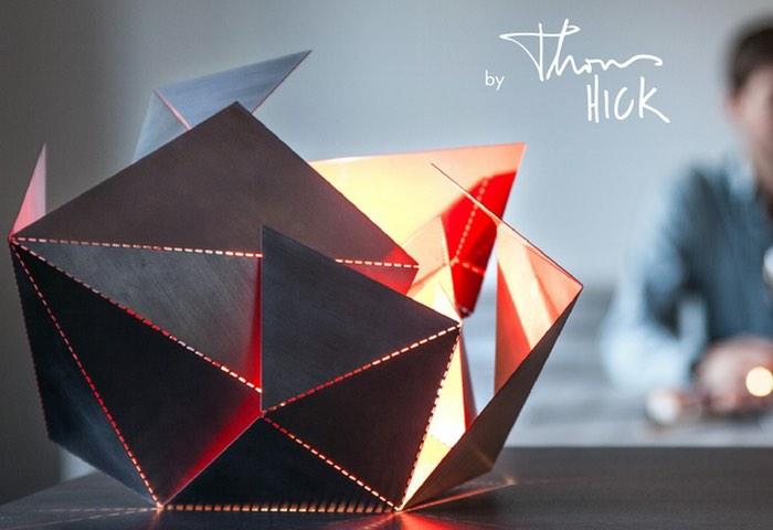 Origami Inspired Folding Lamp