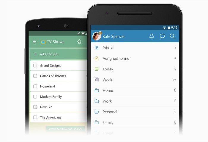 Wunderlist Android Update