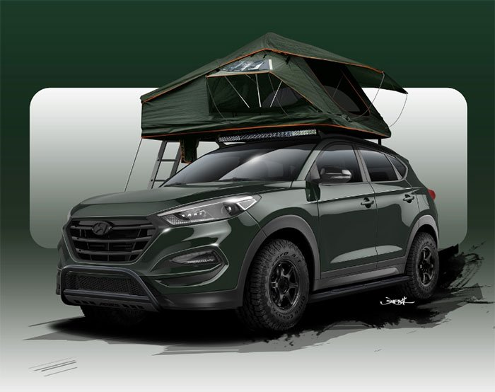 Hyundai Tucson Lift Kit >> Customized Hyundai Tucson aims at Campers - Geeky Gadgets