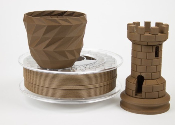 Corkfill 3d printing filament created by colorfabb video for When was 3d printing invented