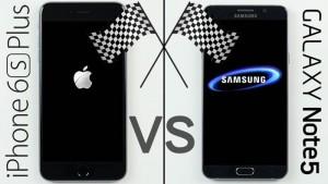 Galaxy Note 5 vs iPhone 6S Plus (Video)