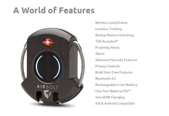 AirBolt Travel Luggage Smart Lock