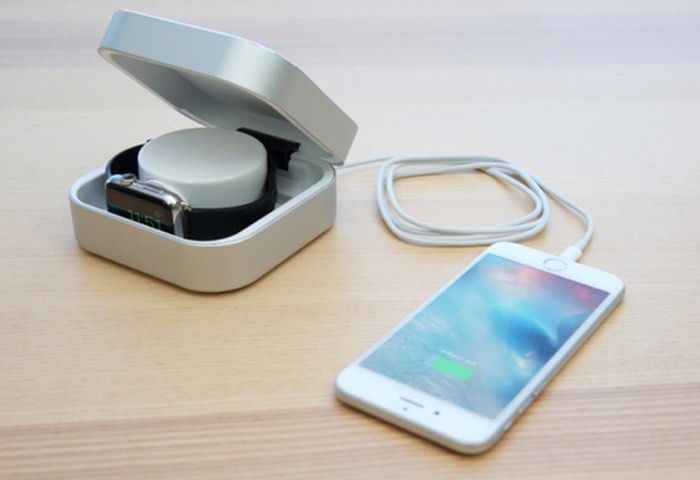 Amber Apple Watch Mobile Charger And Case