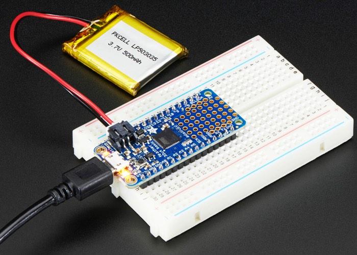 Feather 32u4 Basic Proto Microcontroller