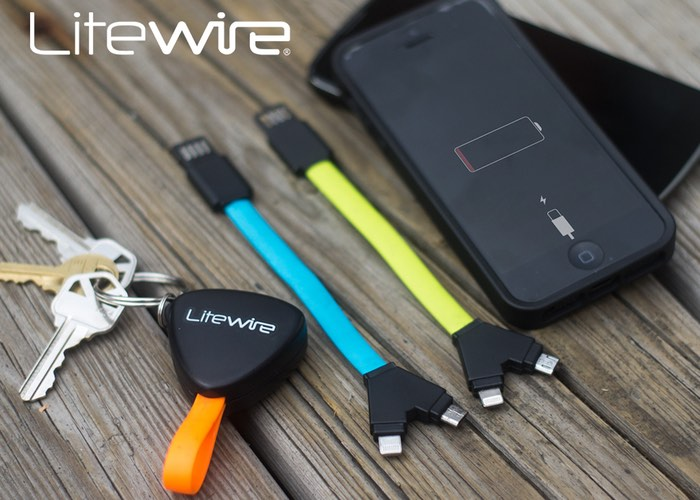 LiteWire Compact Dual Charging Cable