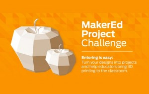 Makerbot Thingiverse #MakerEd Challenge Launches