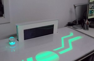 PiDesk Raspberry Pi 2 Desktop Computer With Hidden Screen (video)