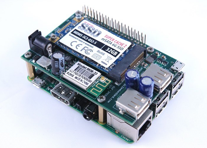 Raspberry Pi 2 Solid State Drive Shield