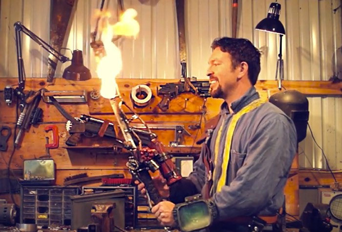Real Life Fallout 4 'Shishkebab' Flaming Sword Created