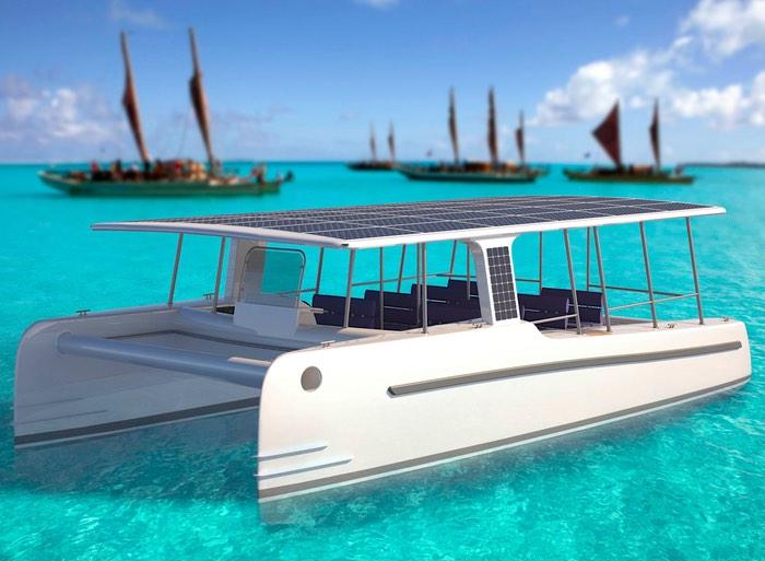 Solar Powered Electric Yacht