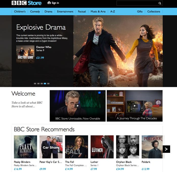 BBC Launches BBC Store To Sell You Classic TV Shows