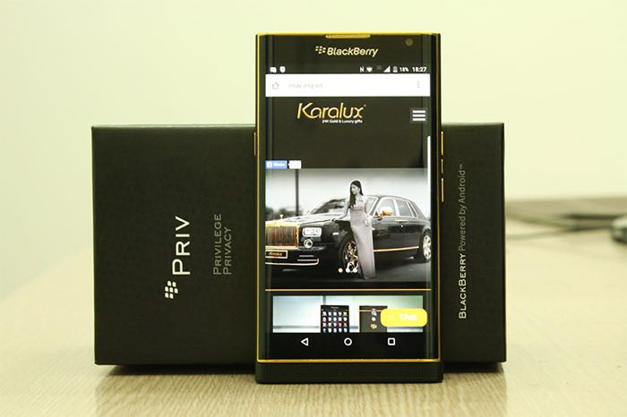 Gold blackberry Priv