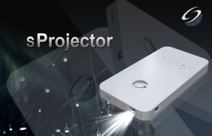 Sprojector pocket sized mini projector launches on for Best mini projector 2015