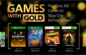 January 2016 Xbox Live Games Available With Gold