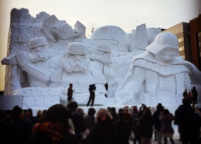 Japanese Army Creates Awesome Star Wars Sculpture