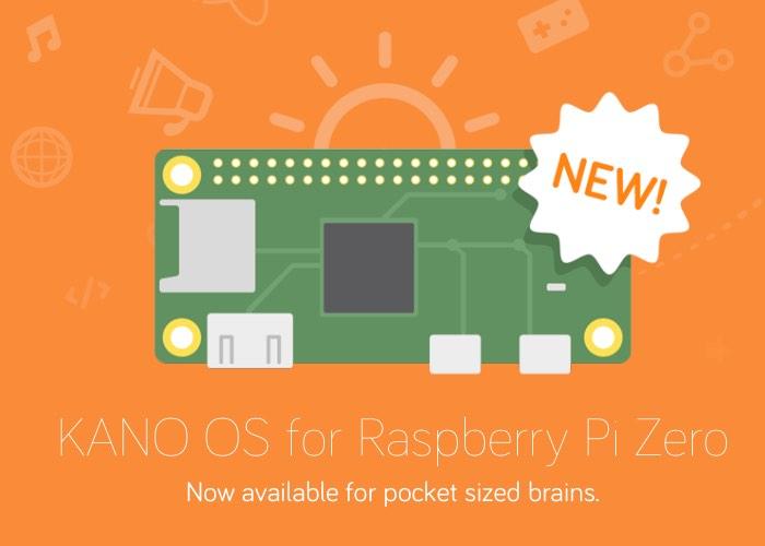 Kano OS Released For Raspberry Pi Zero Mini PC