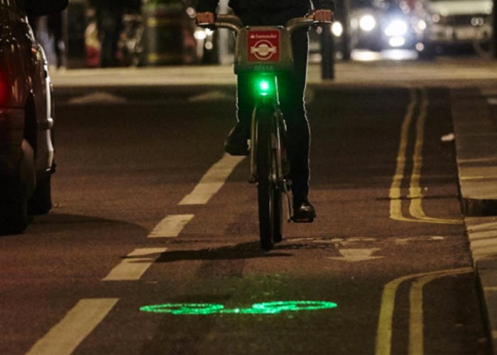 London Santander Cycle LazerLight