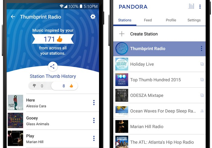 Pandora Thumbprint Radio
