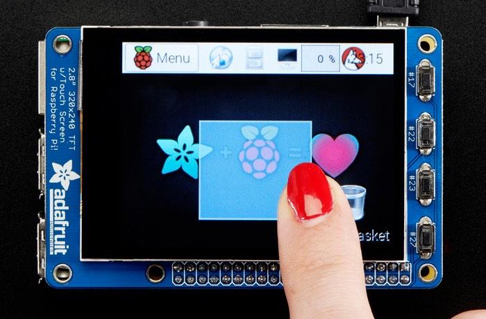 PiTFT Now Supports Raspberry Pi Zero Mini PC