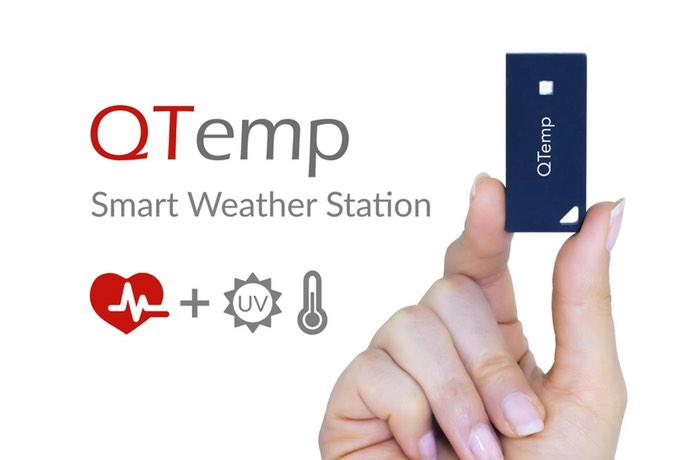 QTemp Smart Wearable Weather Station