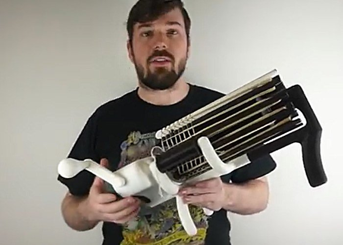3D Printed Rubber Band Machine Gun