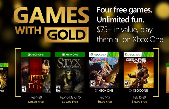 all free games on xbox live gold list