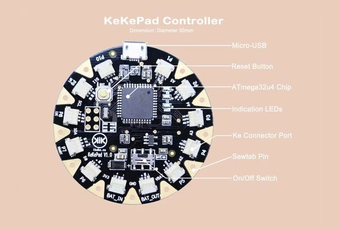 KeKePad Wearable Board