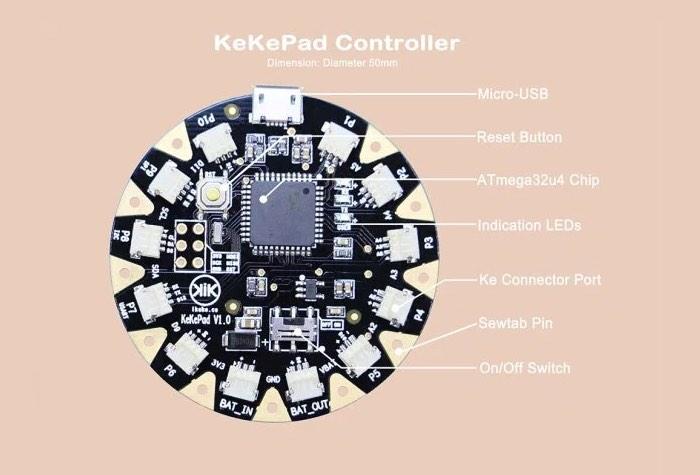 KeKePad Wearable Board