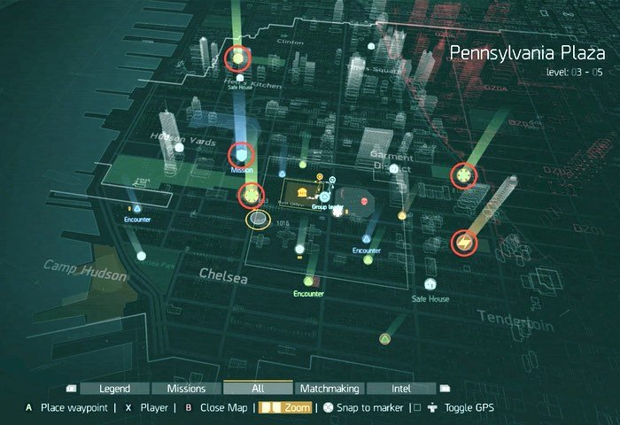 The Division Open World Map