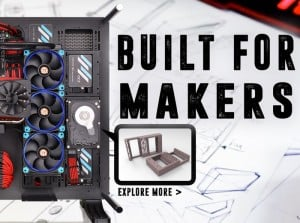 New Thermaltake Professional 3D Printable PC Components Now Available For Makers (video)