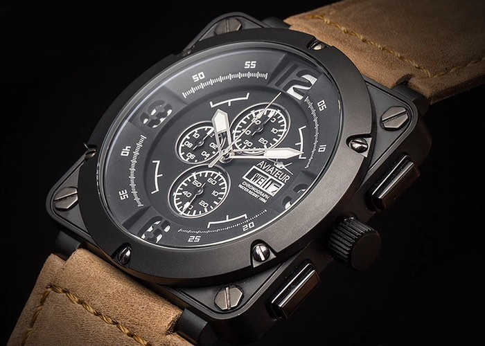 Aviateur's Flyback Chronograph Pilot Watch
