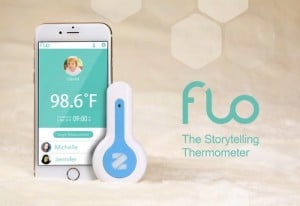Flo Body Temperature Tracker And Bluetooth Thermometer (video)