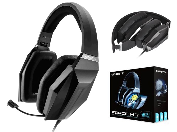 Gigabyte Force H7 and H5 Pro Gaming Headsets