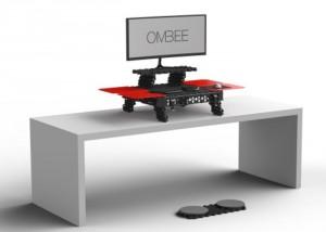 OMBEE Portable Modular Standing Desk (video)