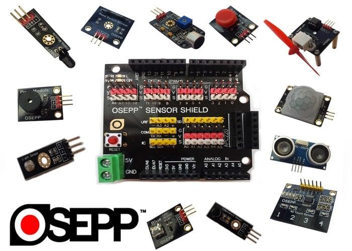 OSEPP 101 Arduino Sensor Kit (video)