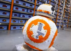 Full Size Star Wars BB-8 Robot Created Out Of Lego (video)