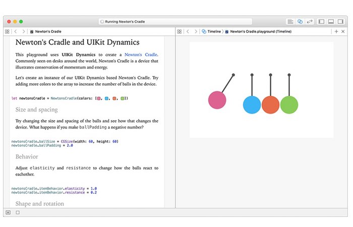 Xcode Interactive Playgrounds