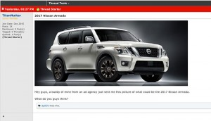 Rumor Claims 2017 Nissan Armada will be based on the Patrol