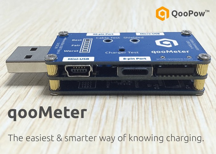 qooMeter Smart USB Charger