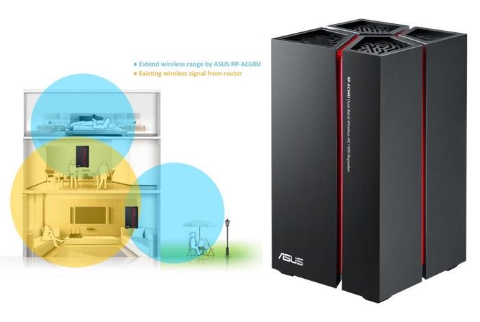 Asus RP-AC68U Dual-Band Wi-Fi Repeater