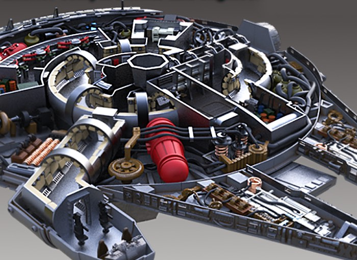 Detailed 3D Printable Millennium Falcon