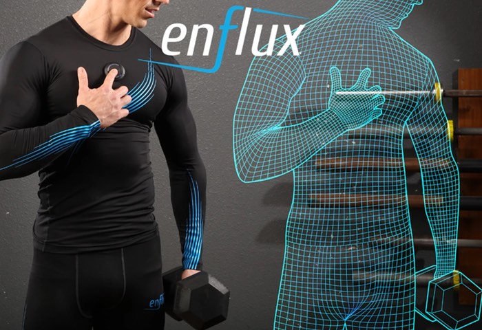 enflux smart clothing offers 3d workout tracking and